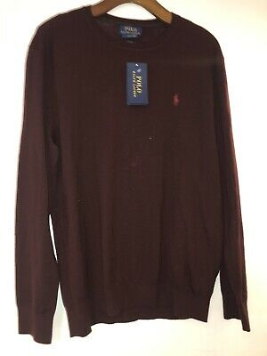 BNWT Ralph Lauren polo maroon  Mens Jumper Size Large