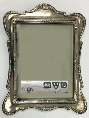 HALLMARKED SOLID SILVER LARGE PHOTO PICTURE FRAME Chester Art Nouveau