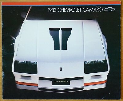 Camaro 83 Chevrolet Document Publicitaire D'origine