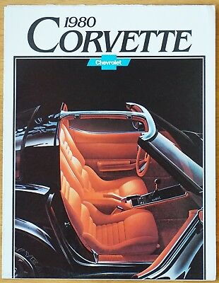 Corvette 80 Chevrolet Document Publicitaire D'origine