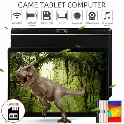 10.1 inch Android 8.0 10 Core Bluetooth Tablet PC WIFI 8+512G Tablet Pad&32G TF