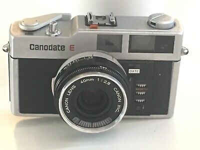 Vintage Canondate E Camera With Canon Lens 40mm 2,8