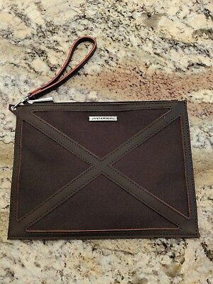 New KLM Airlines JANTAMINIAU Business Class Dark Brown Travel Amenity Pouch Bag