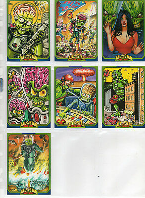 Mars Attacks! Occupation - Lot Of 7 Different All-Star Artists Chase Cards NM