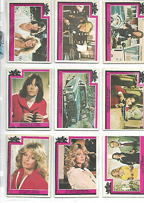 Charlies Angels -  Lot Of 140 Different Cards - Topps - USA  - 1977