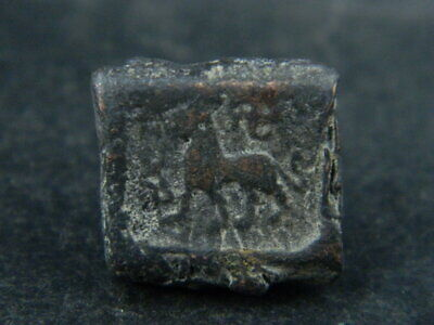 Ancient Bronze Coin Bactrian 100 BC #BR6706