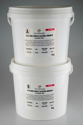 30A Food Grade 1:1 Liquid Silicone Rubber Mould Mix - 10KG