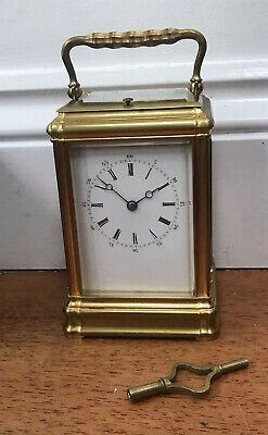 Antique French Repeater Carriage Clock By Alfred Drocourt @ 1890