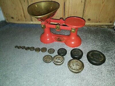 Antique Vintage Cast Iron Weighing Scales with Weights The Viking. Wolverhampton