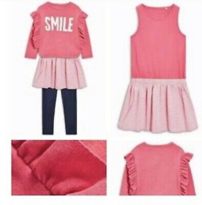 Brand New Girls Next Outfit Age 10, Leggings, Tunic Dress And Sweater Jumper