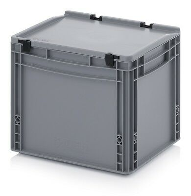 Euro Containers 40x30x33, 5 with Lid Stacking Storage Box Stackable 400x300x335