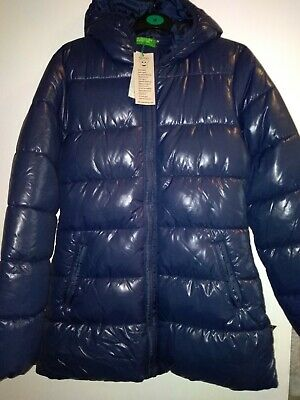 BNWT Girls Benetton navy coat size 2xl, age 11-12