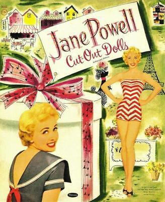 VINTAGE UNCUT 1953 JANE POWELL PAPER DOLLS~#1 REPRODUCTION~FABULOUS RARE SET!