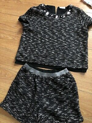 Girls woollen top & short set age 11 Matalan