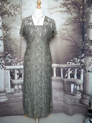 PHASE EIGHT Dress/Ballgown & Bolero 14 Beaded Lace Evening/Gatsby/Formal 1920s
