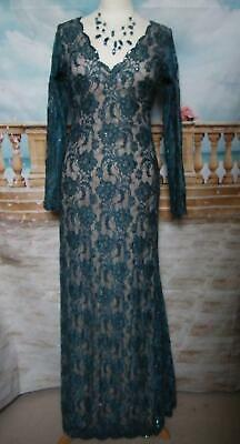 Phase Eight Ballgown/Dress Collection 8 Berkeley Size 8 Green Lace Fishtail Gown