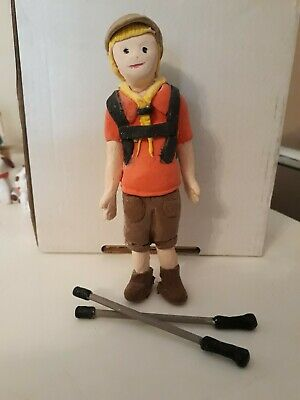 Cute hand crafted clay hiking figure - birthday or other occasions