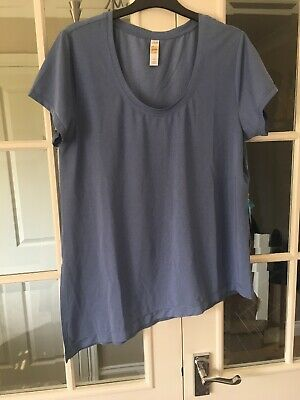 Lole Ladies Light & Navy Blue Sports Active T-shirt Top sz M  Keep Fit New