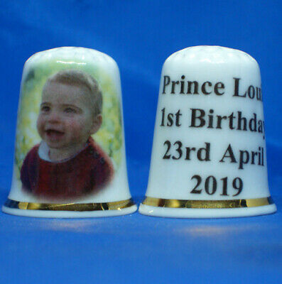 Prince George and Lupo Free Dome Gift Box Birchcroft China Thimble