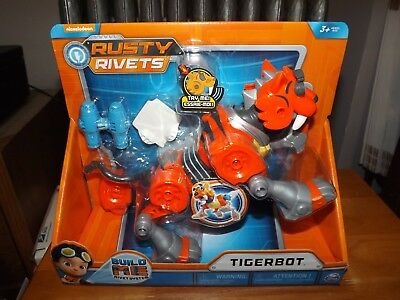 Rusty Rivets, Tigerbot, Easy Build, Sounds, New In Package, Spinmaster