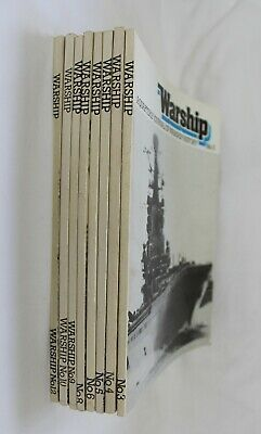 Warship Magazine: A Quarterly Journal Of Warship History - 8 Copies