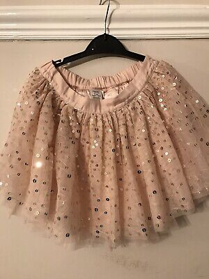 Next Girls Light Pink Sequin Skirt Age 6