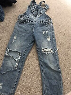 Next Girls Ripped Dungarees 6years