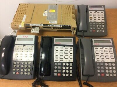 Avaya Lucent AT&T Partner ACS Business Phone System 1 18D with 3 Partner phones