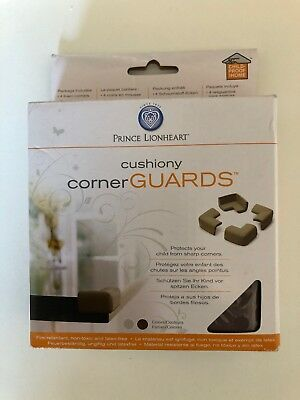 Prince Lionheart Cushiony Corner Guards Chocolate Brown: Fits Tables, Worktops