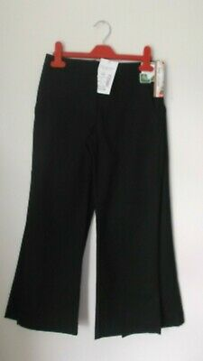 BNWT Top Class Woven Girls Black School Trousers Pack of Two Age 9 yrs