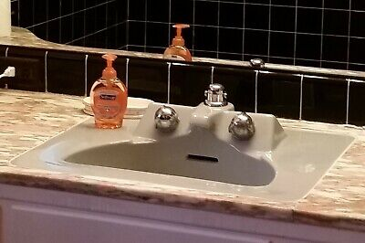 Vintage Crane Sink in French Gray from 1958, Designed by Henry Dreyfuss