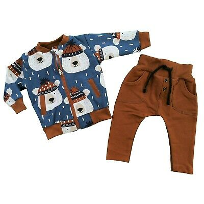 Baby Toddler Boys Tracksuit Outfit Set of Zip Jacket & Trousers **HIGH QUALITY**