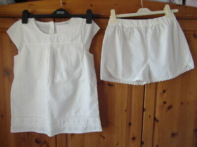 M&S (Autograph) nwt a size 11-12 yrs White in colour PJs with shorts