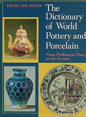 Antique Pottery Porcelain - Dictionary of Types Makers Marks / Scarce Book