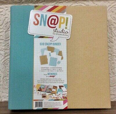 New Teal Simple Stories SN@P 6 x 8 Album / Binder