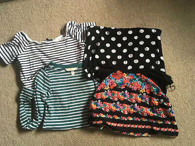 Maternity bundle of Tops size 10 H&M New Look ASOS Teal Stripes Floral