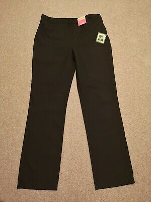 George Girls Black School Adjustable Trousers, New, Size 12-13 Years