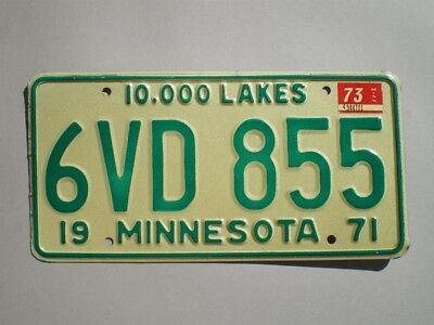 Authentic 1973 Minnesota License Plate