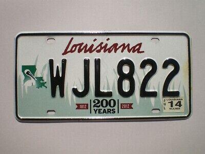 Authentic 2014 Louisiana License Plate