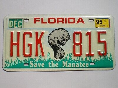 Authentic 1995 Florida License Plate