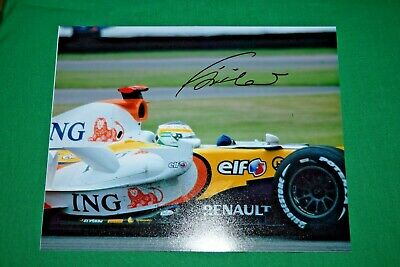 Giancarlo Fisichella Signed Autographed Indy USGP 2007 Renault F1 8x10 photo