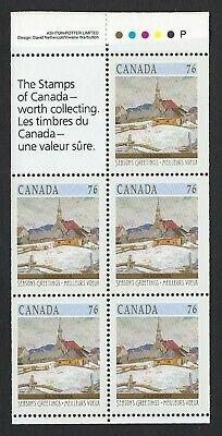 Canada Scott #1258a pane of 5 x 76c from the 1989 Christmas Booklet BK109, VF-NH