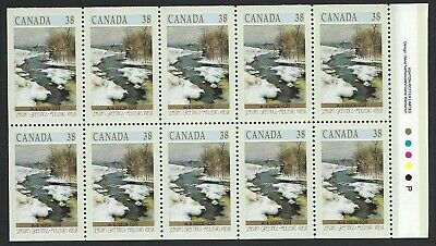 Canada Scott #1256a pane of 10 from 1989 Christmas Booklet BK107, Scarce, VF-NH