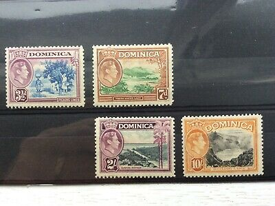 1938 Dominica part set to 10s Mint
