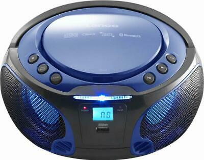 4 Stück Lenco UKW-Radio CD/MP3 tragbar SCD-550 blue blau Radios-Recorder