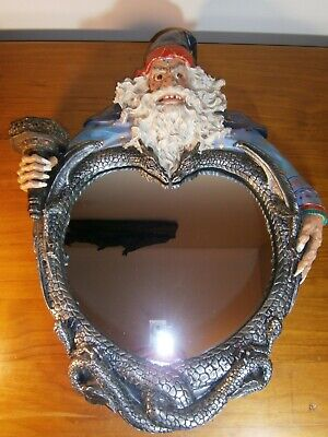 Vintage Wizard Resin Mirror Fantasy Dragon D&D lord of the rings large gothic