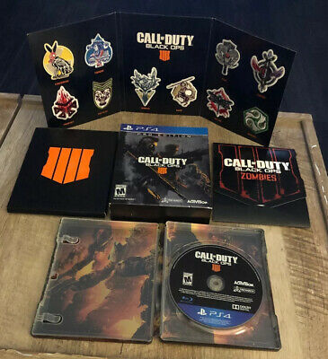 Call Of Duty Black Ops 4 Pro Edition Steelbook PS4 Mint No Digital Codes