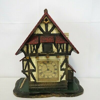 Vintage Cuckoo Clock Case Cottage 14 in tall Wood