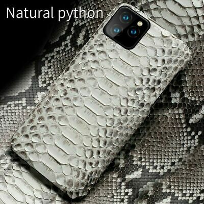 Genuine Real Python Skin Cover fr iPhone 11 Pro Max XS X Snake Leather Back Case