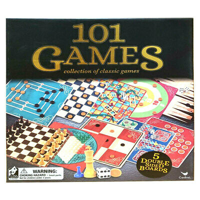 Cardinal Classic Wooden 101 Games Chess/Checkers/Snakes & Ladders Set Family Toy